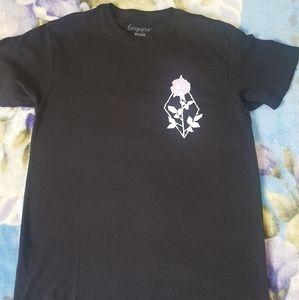 Black Empyre pink rose shirt
